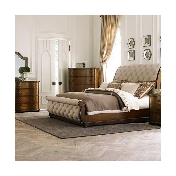 See Details - King California Sleigh Bed, Dresser & Mirror