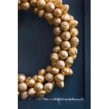 "See Details - Rejoice Wreath (Size:16.5""x 3"", Color:Gold)"