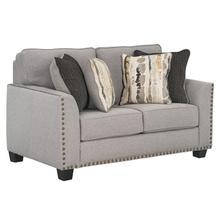 See Details - Carmelle Upholstered Loveseat, Granite