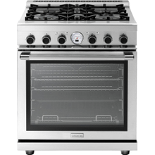 """See Details - Range NEXT 30"""" Panorama Stainless steel 4 gas, electric oven, self-clean"""