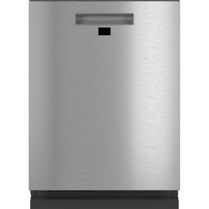 Smart Stainless Steel Interior Dishwasher with Sanitize and Ultra Wash & Dual Convection Ultra Dry in Platinum Glass