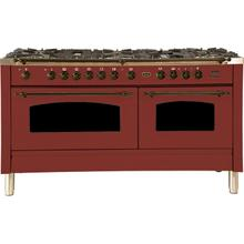 60 Inch Burgundy Dual Fuel Natural Gas Freestanding Range
