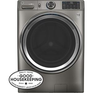 GE® 4.8 cu. ft. Capacity Smart Front Load ENERGY STAR® Steam Washer with SmartDispense™ UltraFresh Vent System with OdorBlock™ and Sanitize + Allergen Product Image