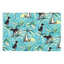 Liora Manne Illusions Aloha Dogs Indoor/Outdoor Mat Sunrise