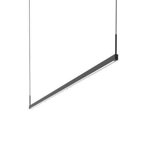 Sonneman - A Way of Light - Thin-Line LED Pendant [Size=6' One-Sided, Color/Finish=Satin Black]