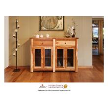 """See Details - 60"""" Console w/4 Glass doors, 2 drawers"""