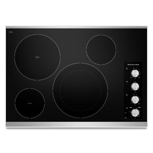 """Gallery - 30"""" Electric Cooktop with 4 Radiant Elements - Stainless Steel"""