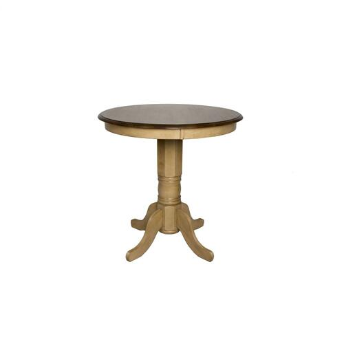 Round Pub Pedestal Dining Table