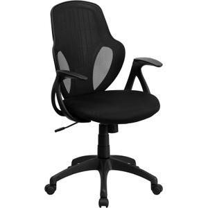 Mid-Back Executive Black Mesh Chair with Nylon Base