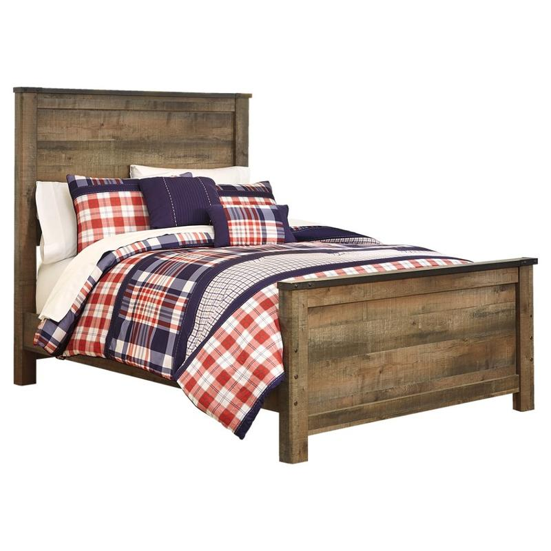 View Product - Trinell Full Panel Bed With Mattress