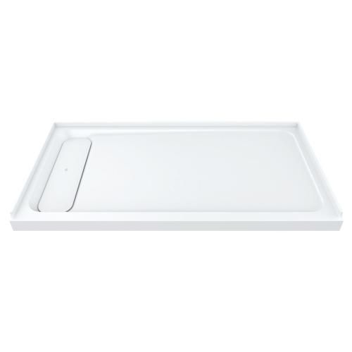 """DXV Modulus 60"""" x 30"""" Solid Surface Shower Base - Left Drain - Merino White"""