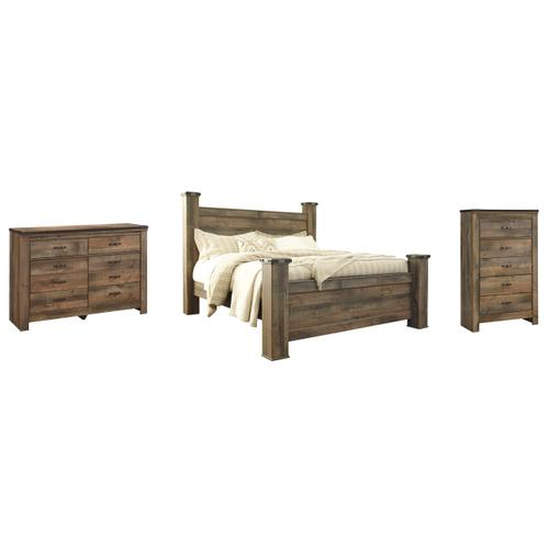 Ashley - King Poster Bed With Dresser and Chest