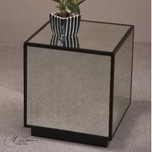 Matty Mirrored Cube Table