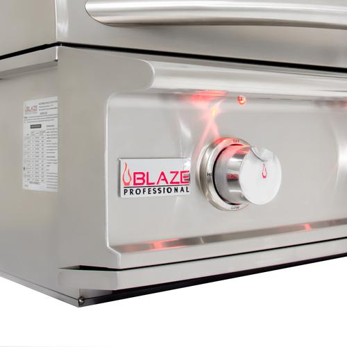 Blaze Professional LUX 34-Inch 3 Burner Built-In Gas Grill With Rear Infrared Burner, With Fuel type - Propane