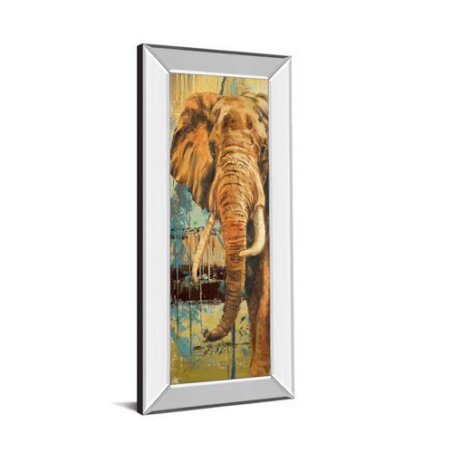 "Classy Art - ""New Safari On Teal Il"" By Patricia Pinto Mirror Framed Print Wall Art"
