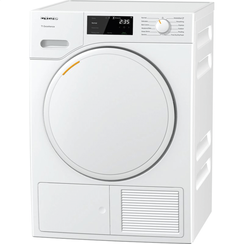 TXD160WP - T1 Heat-pump tumble dryer with Miele@home and FragranceDos for laundry that smells great.