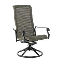 Sherwood High Back Dining Wicker Swivel Rocker