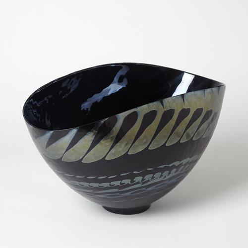 Black Silver Marble Centerpiece Bowl/Charger
