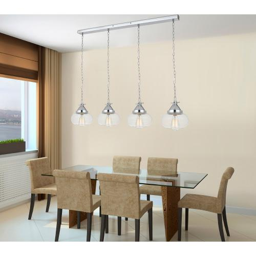 60W X 4 Maywood Glass Pendant (Edison Bulbs Not included)