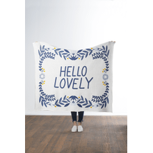 """""""Hello Lovely"""" Knit Throw"""