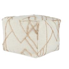 See Details - Sintra Ivory/Natural Pouf 18x18x14