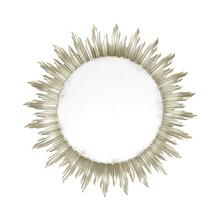 See Details - Large silver sunburst mirror