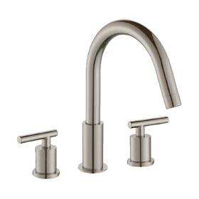 "Opera 8"" Lav Faucet Lever Handles Brushed Nickel"