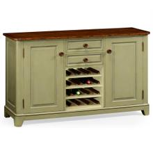Gustavian style sideboard with wine rack