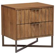 Modern Nightstand - Brown Product Image