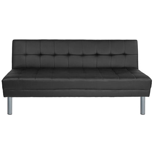 "Metropolitan 67"" Black LeatherSoft Futon Bed and Couch"