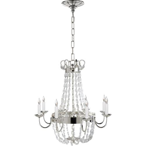 Visual Comfort CHC1426PS-SG E F Chapman Paris Flea Market 8 Light 24 inch Polished Silver Chandelier Ceiling Light