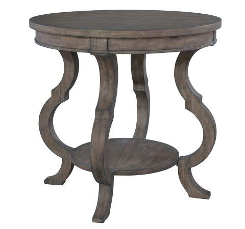 Lincoln Park Round Lamp Table with Shaped Legs