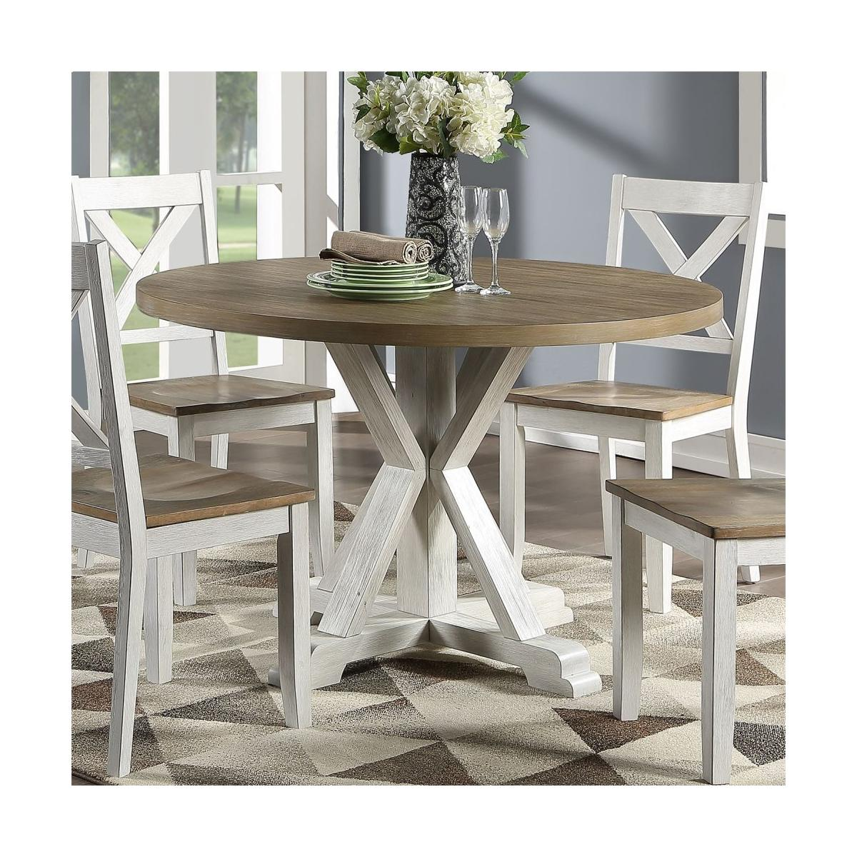 Single Pedestal Table- White