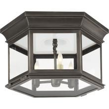 Visual Comfort CHC4126BZ-CG E. F. Chapman Club 3 Light 16 inch Bronze Flush Mount Ceiling Light in Clear Glass