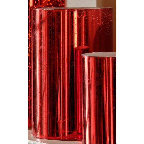 "6"" Red Shimmer LED Candle"