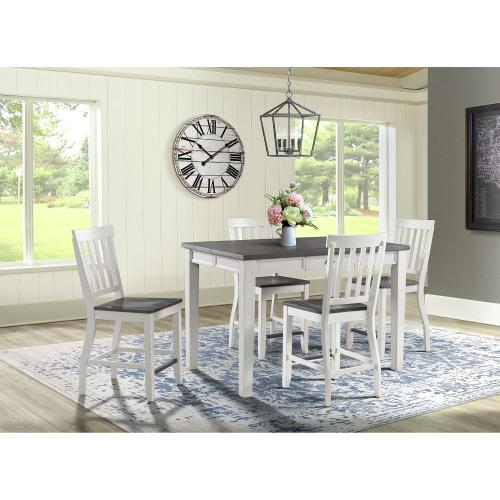 Kayla Two Tone Counter Height Dining Table with Storage