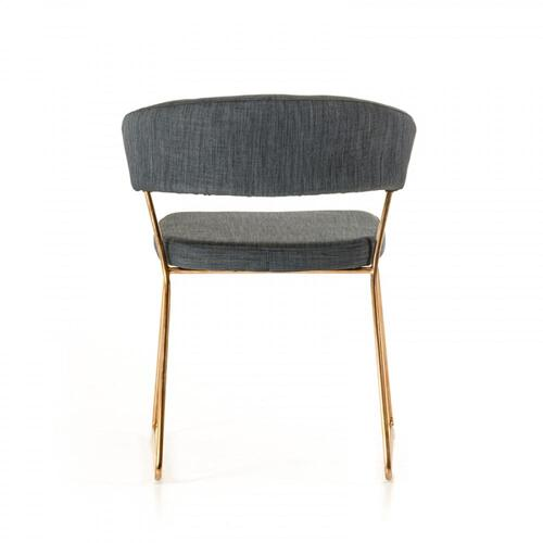 Ashland - Modern Grey & Rosegold Dining Chair (Set of 2)