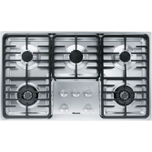 MieleKM 3475 G - Gas cooktop with 2 dual wok burners for particularly versatile cooking convenience.