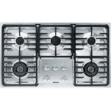 Gas cooktop with 2 dual wok burners for particularly versatile cooking convenience.