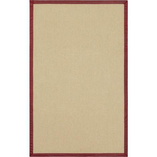 Karastan - Double Weave Jute White Pepper 10'x14' / Leather Border