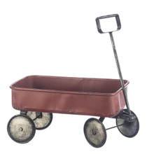 See Details - Distressed Red Wagon