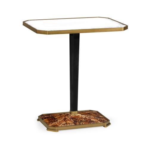 Rectangular Eggshell & Antique Mirror Side Table