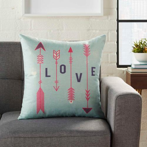 """Home for the Holiday L9014 Multicolor 18"""" X 18"""" Throw Pillow"""