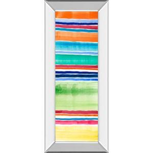 """Cabana Panel III"" By Regina Moore Mirror Framed Print Wall Art"