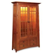 View Product - McCoy Bookcase with Glass Doors