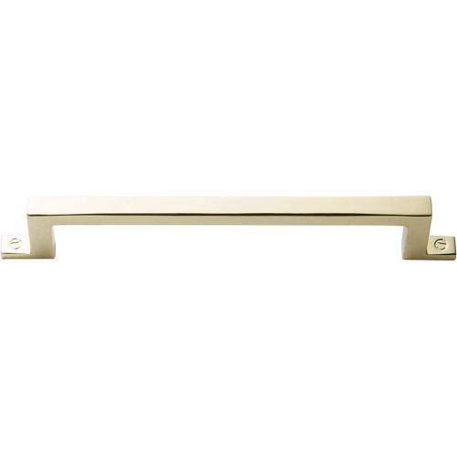 Campaign Bar Pull 5 1/16 Inch (c-c) - Polished Brass