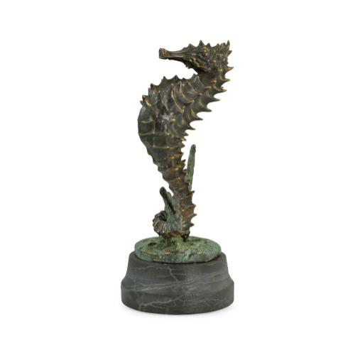 The seahorse on marble stand