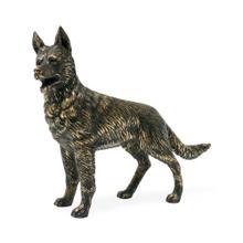 Antique Dark Bronze German Shepherd Dog