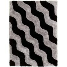 3D-802 SHADOW Wave Row Shaggy Rug
