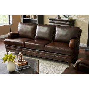 Oliver Stationary Sofa in Espresso